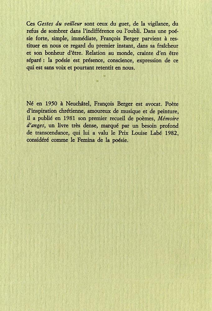 François Berger Editions Soleil Dencre Poésie